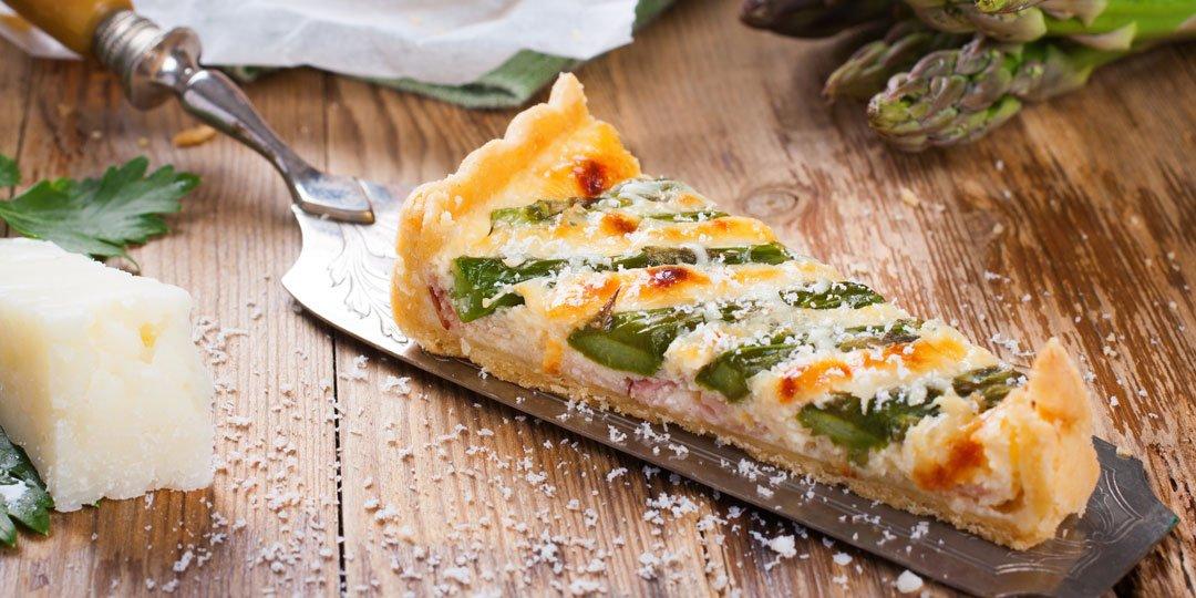 Τάρτα με σπαράγγια και τυρί - Images