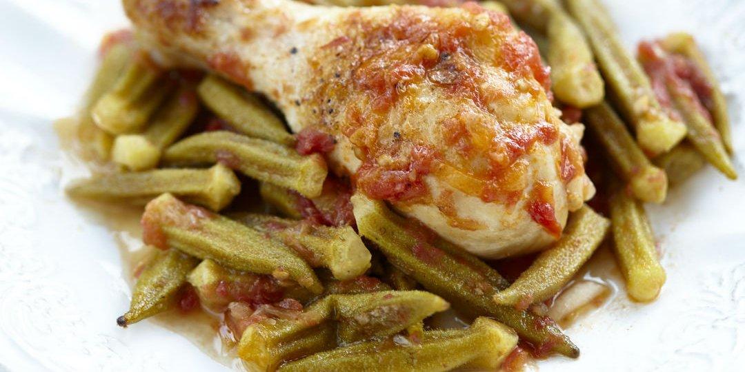 Κοτόπουλο με μπάμιες φούρνου - Images
