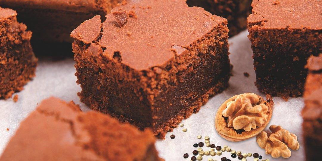 νηστίσιμο σοκολατένιο brownies με κινόα  - Images