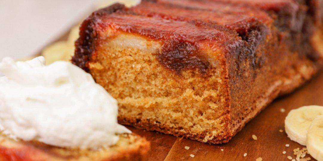 Ανάποδο κέικ με καραμελωμένες μπανάνες - Images
