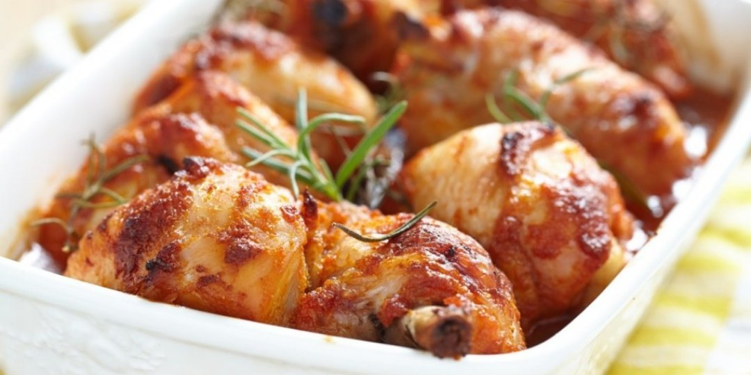 Ζουμερό μπούτι κοτόπουλο με μουστάρδα και μέλι - Images