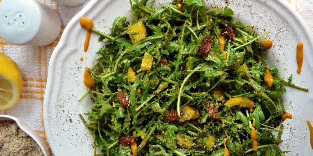 Σαλάτα ρόκα με φουντούκι και σταφίδα - Images