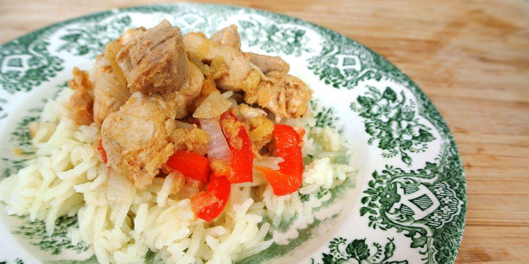 Κοτόπουλο μαριναρισμένο με μήλο και κοκκινη πιπεριά - Images