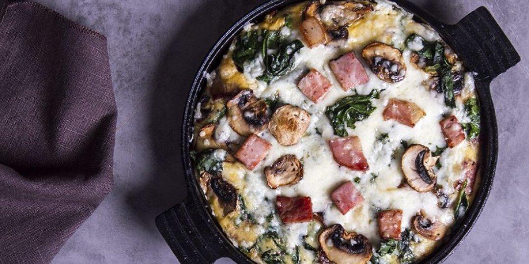 Ομελέτα φούρνου με σπανάκι και μανιτάρια - Images