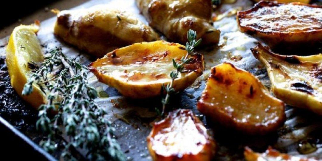 Τραγανό κολοκάσι Σωτήρας ΠΟΠ με σκόρδο και δενδρολίβανο  - Images