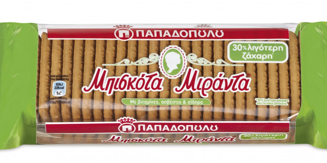 Τα αγαπημένα μπισκότα Μιράντα τώρα και με 30% Λιγότερη Ζάχαρη - Κεντρική Εικόνα