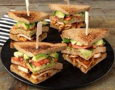 Το χορτοφαγικό club sandwich - Images