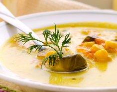 Σούπα με καλαμπόκι και λαχανάκια Βρυξελλών  - Images