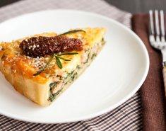 Πίτα με σολομό, τυρί κρέμα και σπανάκι - Images