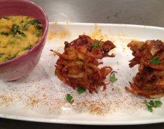 Λουβάνα με σπανάκι, φέτα και τηγανίτες από κρεμμύδι - Images