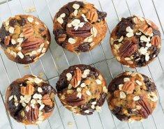 Σοκολατένιο cupcake βρώμης Mornflake με φυστικοβούτυρο - Images