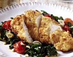 Κοτόπουλο σε κρούστα αρωματικών και σπανάκι - Images