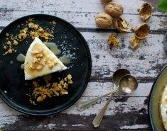 Cheesecake με ανθότυρο και αλμυρή σάλτσα μελιού - Images