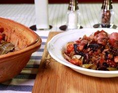 Φακές με χταπόδι Blue Island και λαχανικά - Images
