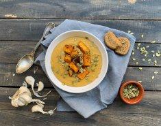 Φάβα με ψητές γλυκοπατάτες & κολοκυθόσπορους FOODSAVER - Images