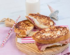 """Σάντουιτς """"αυγοφέτες"""" (french toast) με τυρί και ζαμπόν  - Images"""