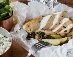 Γαλοπούλα Foodsaver με μανιτάρια στη λαδόκολλα - Images