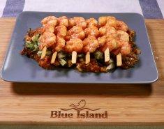 Γαρίδες Blue Island με μελιτζανοσαλάτα  - Images