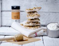 Παγωμένες μπάρες γιαουρτιού με μέλι και καρύδια - Images