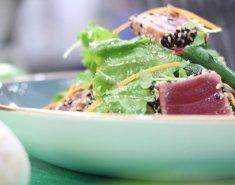 Ασιατική σαλάτα με φιλέτο τόνου και πράσινα φασολάκια - Images