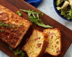 Αλμυρό κέικ με τυρί και ζαμπόν - Images