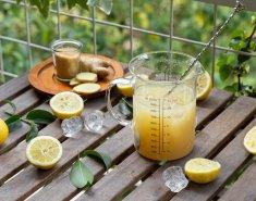 Πανεύκολη λεμονάδα με ολόκληρα λεμόνια & ginger - Images
