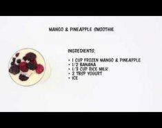 Smoothie με μάνγκο και ανανά (video) - Images