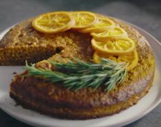 Κέικ πορτοκαλιού και πολέντας με ελαιόλαδο Montes de Toledo ΠΟΠ - Images