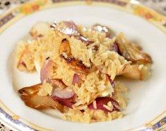Ρύζι με μανιτάρια πλευρώτους και κόκκινο κρεμμύδι - Images