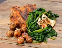 Πορτομπελίνι, σπανάκι και φέτα με ψητό στήθος κοτόπουλο - Images