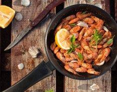 Τηγανιτές γαρίδες με σκόρδο και κονιάκ - Images