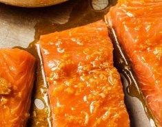 Σολομός με πορτοκάλι, μέλι και τζίντζερ - Images