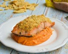 Σολομός Foodsaver με κρούστα από nachos και πουρέ γλυκοπατάτας - Images