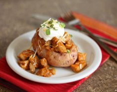 Πατάτες γεμιστές με γαλοπούλα και πιπεριές  - Images