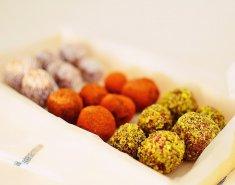 Νηστίσιμα τρουφάκια σοκολάτας με ταχίνι - Images