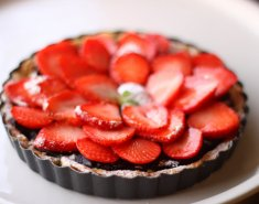 Τάρτα σοκολάτας με φράουλες  - Images