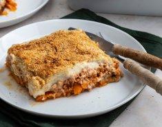 Χειμωνιάτικος μουσακάς με γλυκοπατάτες και μανιτάρια - Images