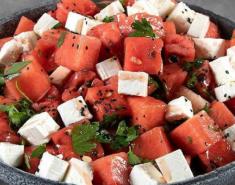 Σαλάτα με καρπούζι και φέτα - Images